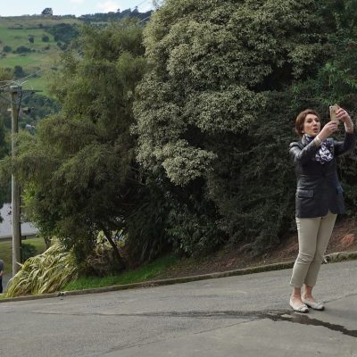Cruising With Jane Mcdonald - Ep 1 - Jane takes a selfie at the top of the World's steepest street.