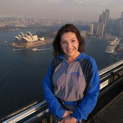 Cruising With Jane Mcdonald - Ep 2 OZ & NZ - Jane basks in the glory of climbing the Sydney Harbour Bridge.