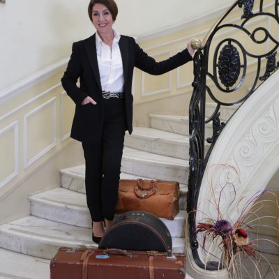 Cruising With Jane McDonald Se4 Ep 1 - Jane on the set of the music video, Another Suitcase, Another Hall from the musical Evita.