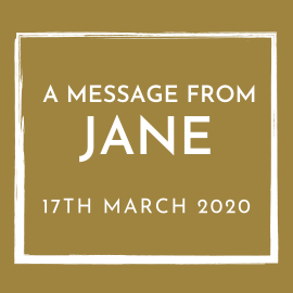 A message from Jane