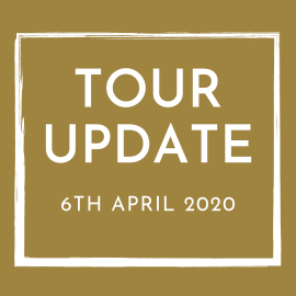 Tour Update April 6th